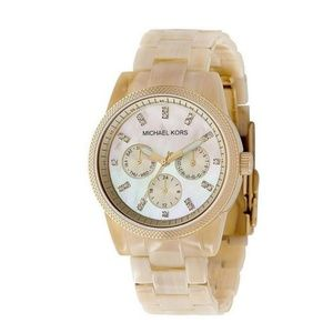 Michael Kors Gold Set Horn Watch